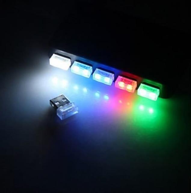 LED21 USB LED Atmosphere Light 5V světlo 1 SMD, MODRÁ